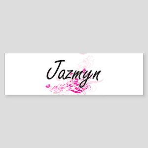 Jazmyn Artistic Name Design with Fl Bumper Sticker