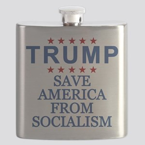 Save America From Socialism Flask