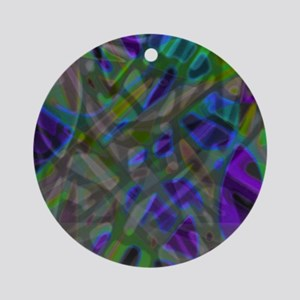 Colorful Stained Glass G3 Round Ornament