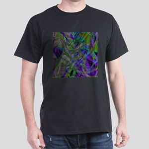 Colorful Stained Glass G3 Dark T-Shirt