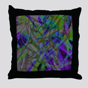 Colorful Stained Glass G3 Throw Pillow