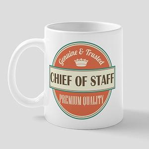 chief of staff vintage logo Mug