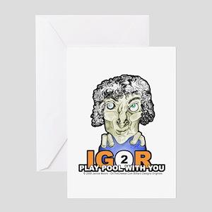 Billiard Halloween Igor 2 Play Greeting Card