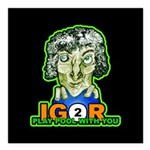 Billiard Halloween Igor Square Car Magnet 3