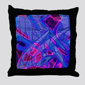 Colorful Stained Glass G5 Throw Pillow
