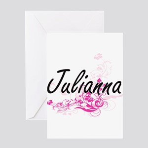 Julianna Artistic Name Design with Greeting Cards