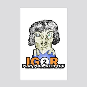 Billiard Halloween Igor 2 Play Mini Poster Print
