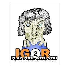 Billiard Halloween Igor 2 Play Posters