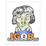 Billiard Halloween Igor 2 Play Small Poster