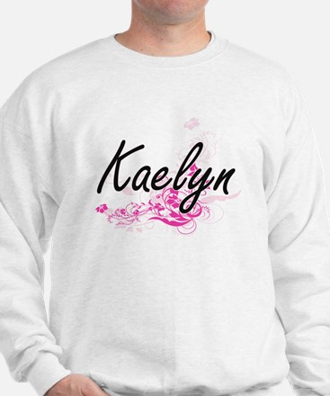 Kaelyn Artistic Name Design with Flower Sweater
