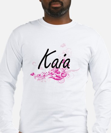 Kaia Artistic Name Design with Long Sleeve T-Shirt