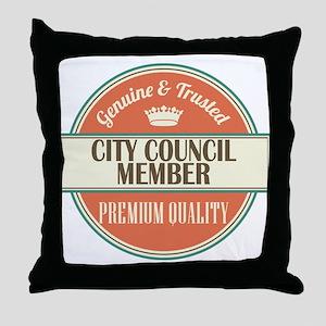 city council member vintage logo Throw Pillow