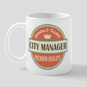 city manager vintage logo Mug