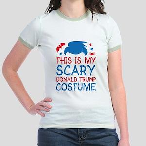 Scary Trump Costume Jr. Ringer T-Shirt