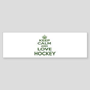 Keep calm and love Hockey Sticker (Bumper)
