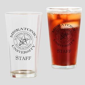 Miskatonic-Staff Drinking Glass