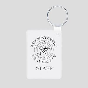 Miskatonic-Staff Aluminum Photo Keychain