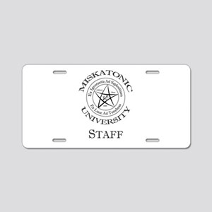 Miskatonic-Staff Aluminum License Plate