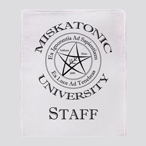 Miskatonic-Staff Throw Blanket