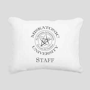 Miskatonic-Staff Rectangular Canvas Pillow