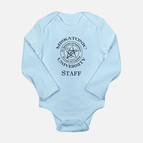 Miskatonic-Staff Long Sleeve Infant Bodysuit