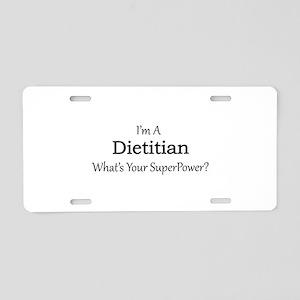 Dietitian Aluminum License Plate