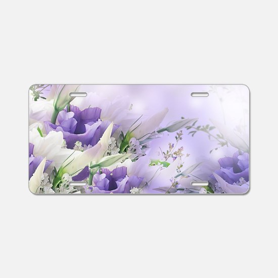 Beautiful Floral Aluminum License Plate