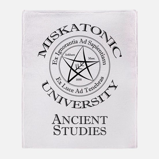 Miskatonic-Ancient Throw Blanket