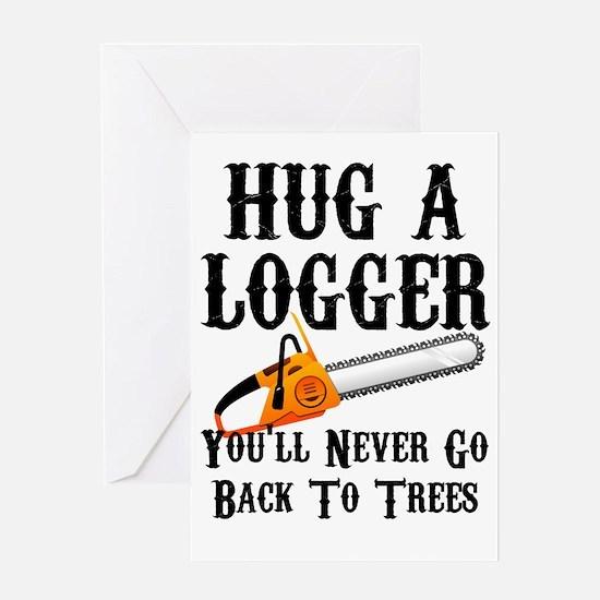 Cute Logging Greeting Card
