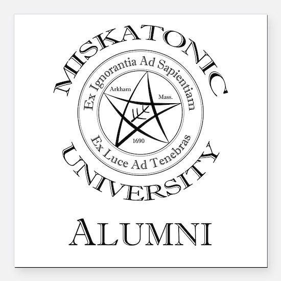 """Miskatonic - Alumni Square Car Magnet 3"""" x 3"""""""