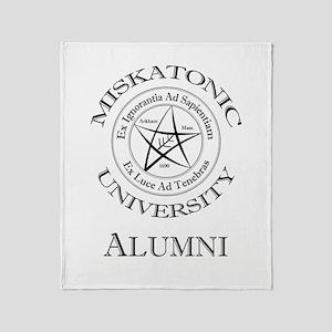 Miskatonic - Alumni Throw Blanket
