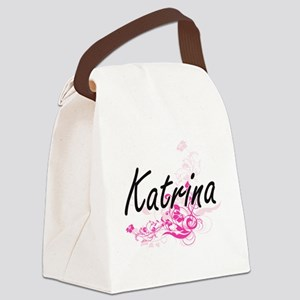 Katrina Artistic Name Design with Canvas Lunch Bag