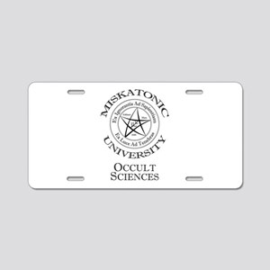 Miskatonic - Occult Aluminum License Plate