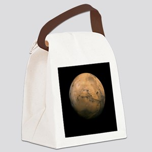 Mars Globe - Valles Mariners by J Canvas Lunch Bag