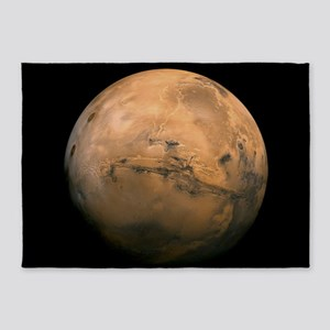Mars Globe - Valles Mariners by JPL 5'x7'Area Rug