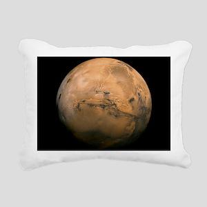 Mars Globe - Valles Mari Rectangular Canvas Pillow