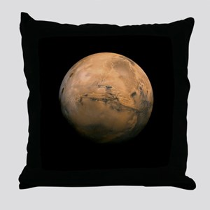 Mars Globe - Valles Mariners by JPL - Throw Pillow