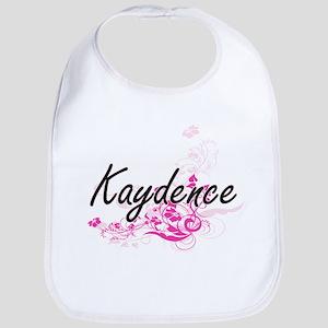 Kaydence Artistic Name Design with Flowers Bib