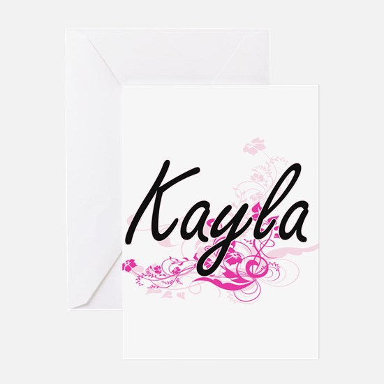 Kayla Artistic Name Design with Flo Greeting Cards