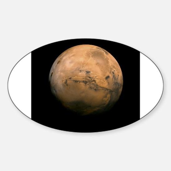 Mars Globe - Valles Mariners by JPL - NASA Decal