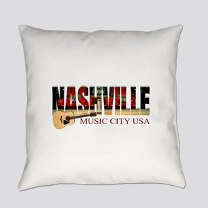 Nashville Music City USA Everyday Pillow