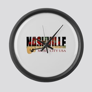 Nashville Music City USA Large Wall Clock