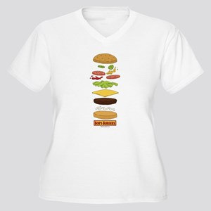 Bob's Burgers Sta Women's Plus Size V-Neck T-Shirt