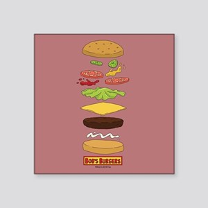 "Bob's Burgers Stacked Burge Square Sticker 3"" x 3"""