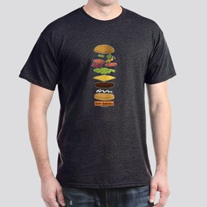 Bob's Burgers Stacked Burger Dark T-Shirt