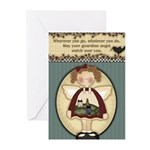 Watching Angels Greeting Cards (Pk of 20)