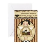 Winged Angels Greeting Card