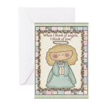 Thinking of You Angel Greeting Cards (Pk of 20)