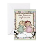 Good Friends Angels Greeting Card