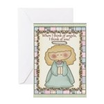 Thinking of You Angel Greeting Card